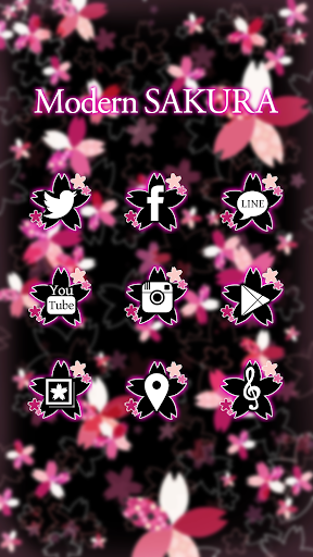 玩免費個人化APP|下載かわいい春のおしゃれ壁紙★幻想的なネオンピンクの夜桜 app不用錢|硬是要APP