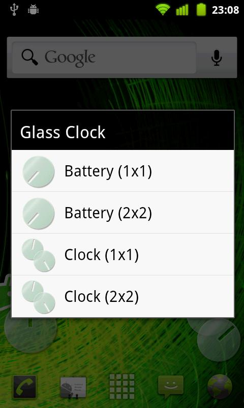 Glass Clock Free- screenshot