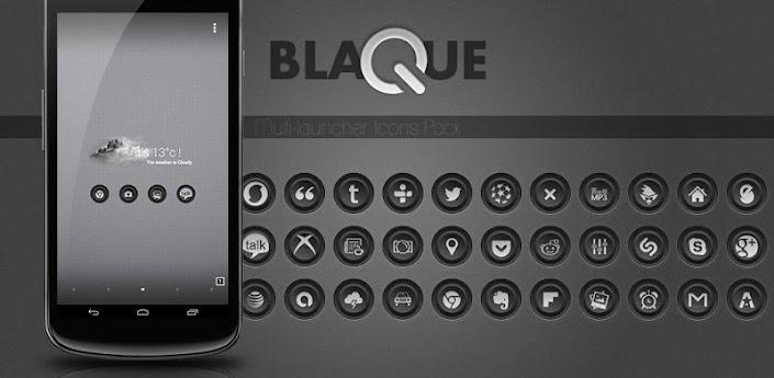 Blaque Icons Pack 1.0.3 apk