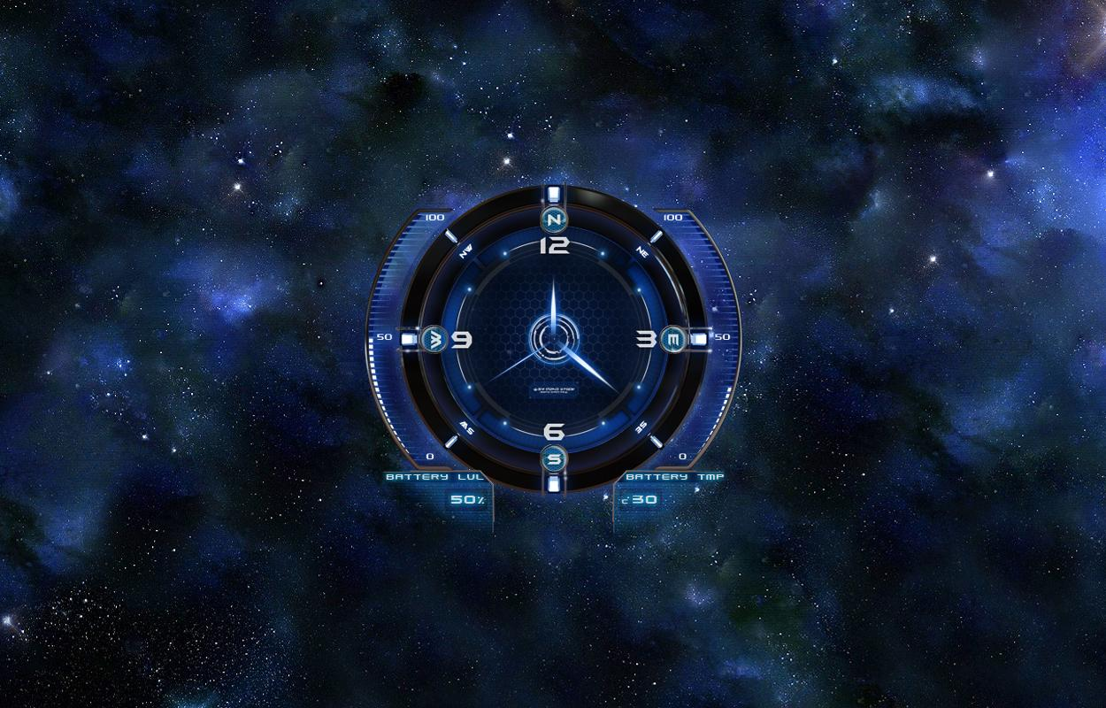 Space Clock HD Live Wallpaper Android Apps on Google Play