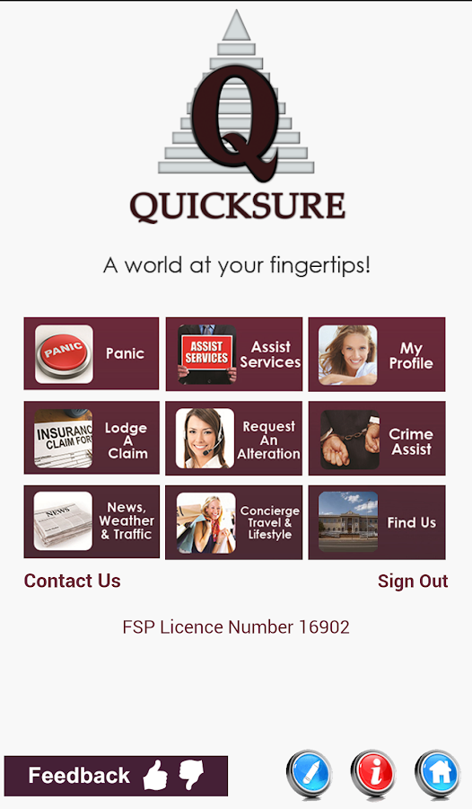 Quicksure - screenshot