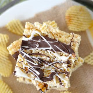 Chocolate-Covered Potato Chip Crispy Treats