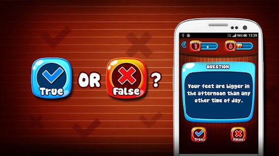 True or False Quiz Game- screenshot thumbnail