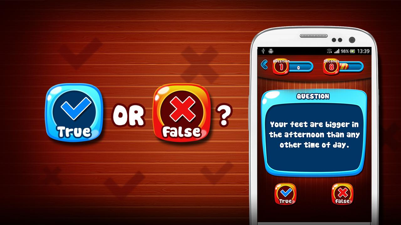 True or False Quiz Game- screenshot