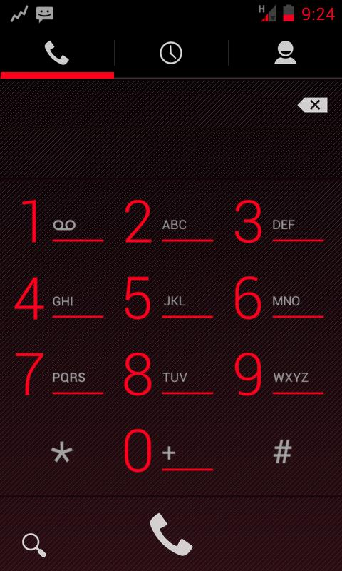TESLA RED CM / AOKP THEME - screenshot
