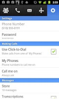 Screenshot of CommPortal Mobile