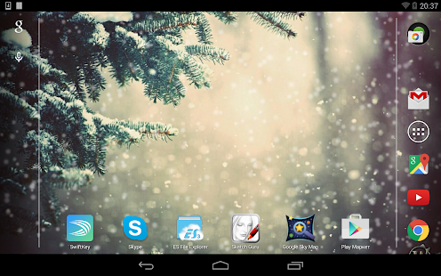 Lovely Snowfall Live Wallpaper Screenshot