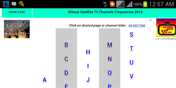 Nilesat Channel List