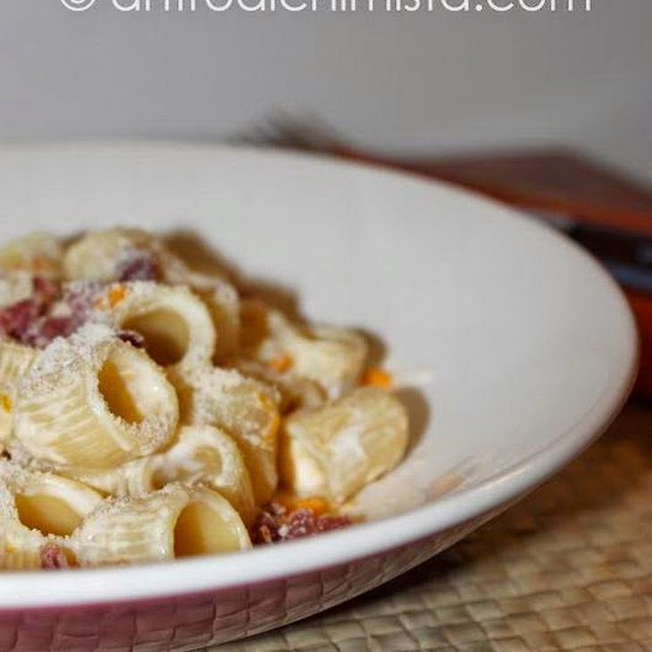 Rigatoni Pasta with Pumpkin and Speck Recipe