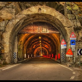 tunnel to Timmelsjoch by Petr Klingr - Buildings & Architecture Other Exteriors ( hdr, road, traffic light, alps, tunnel,  )