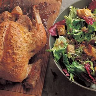 Roasted Chicken with Warm Winter Greens Salad.
