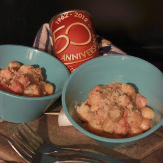 Tricolor Gnocchi with Sausage Ragu.
