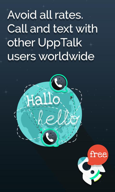 UppTalk Free Calls SMS & text - screenshot