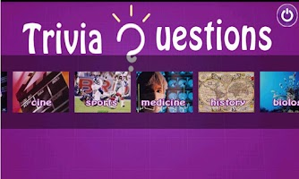 Screenshot of Trivia questions