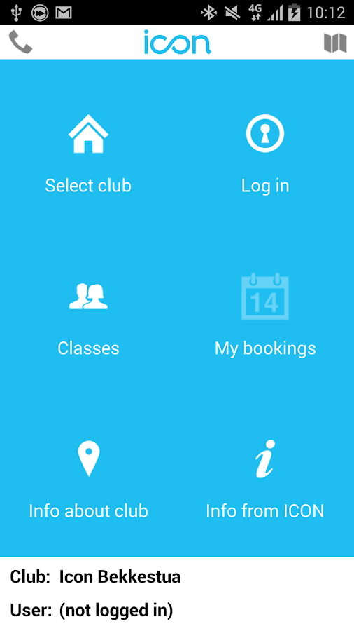 ICON booking - screenshot