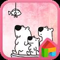 White bear dodollauncher theme icon