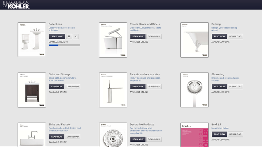 Kohler Catalogs - screenshot