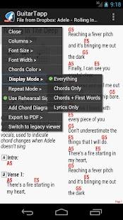 GuitarTapp - Tabs & Chords - screenshot thumbnail