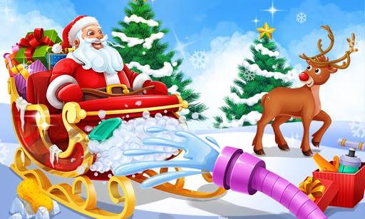 Christmas Santa's Sleigh Salon