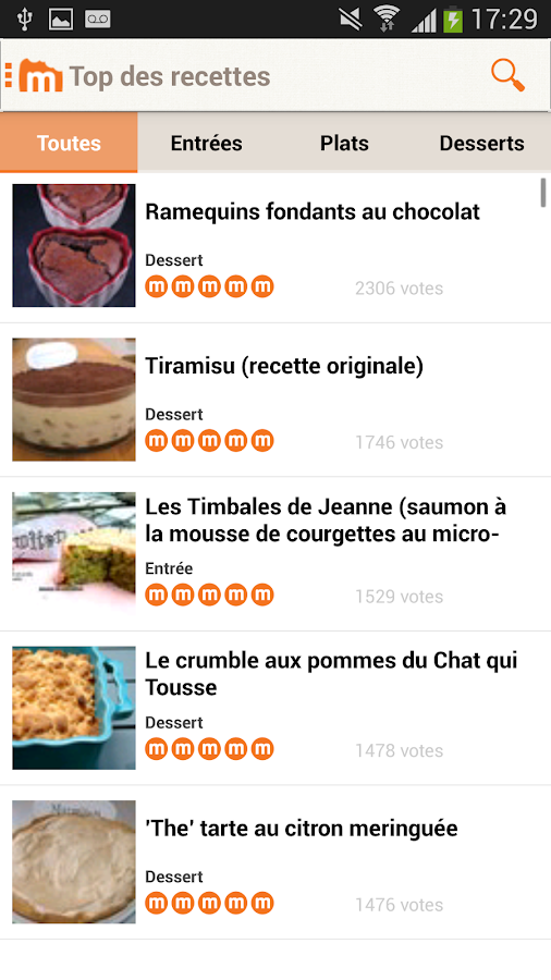Marmiton : recettes de cuisine - screenshot