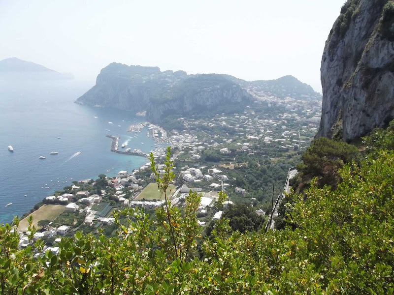 Stunning views from Anacapri, near Villa San Michelle on the Island of Capri, Italy.