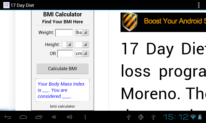 17 Day Diet - screenshot