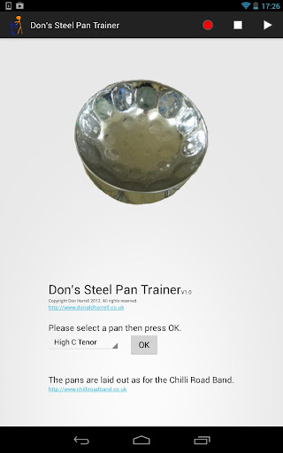 Don's Steel Pan Trainer