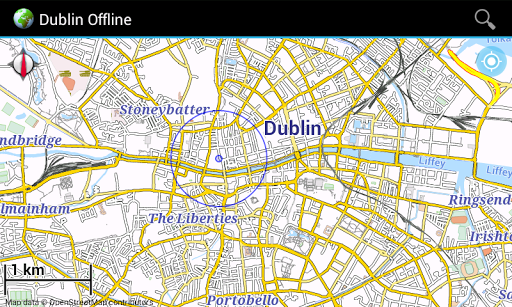 Offline Map Dublin Ireland