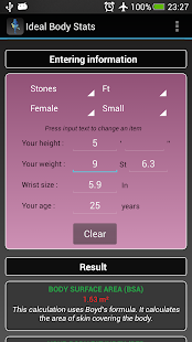 Ideal Weight BMI Adult & Child - screenshot thumbnail