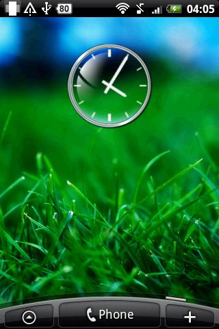Glass Clock Widget 2x2 - screenshot
