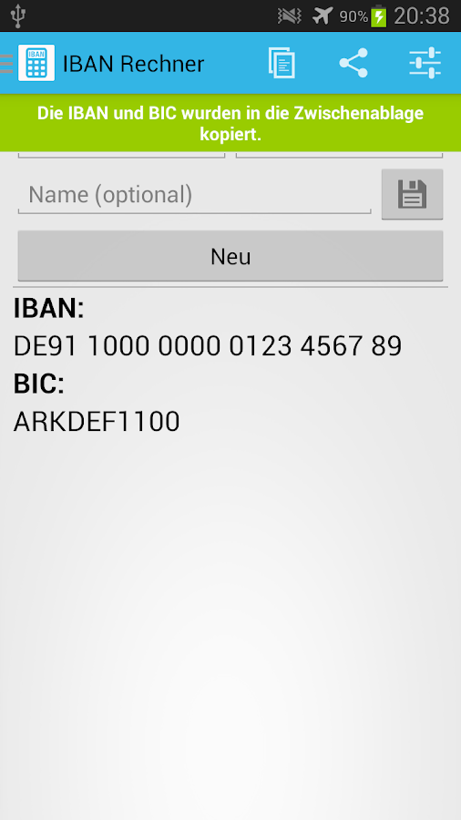 IBAN Rechner - Android Apps on Google Play