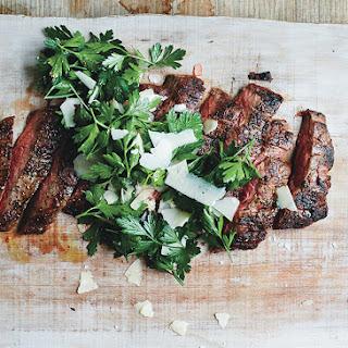 Grilled Steak with Parsley-Parmesan Salad