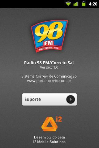 Rádio 98 FM Correio SAT- screenshot