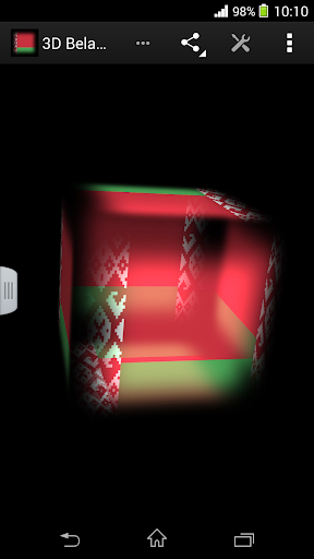 3D Belarus Cube Flag LWP