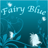 Fairy Blue Clock