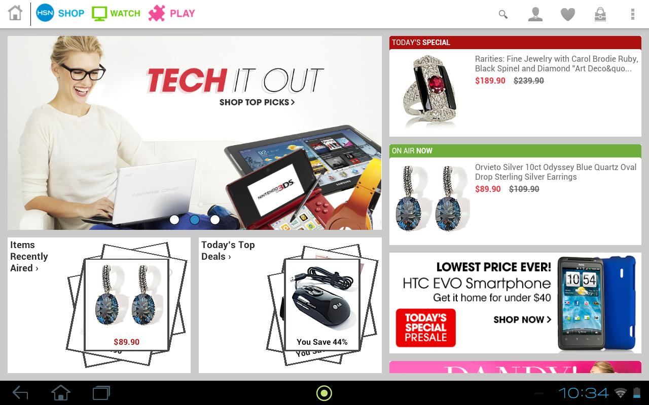 HSN Tablet Shop App - screenshot