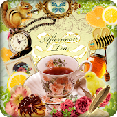 Afternoon Tea Time Wallpaper