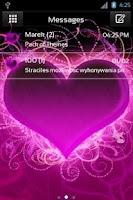 Screenshot of GO SMS Pro Theme Hearts