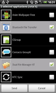 Bluetooth File Transfer: miniatura de captura de pantalla
