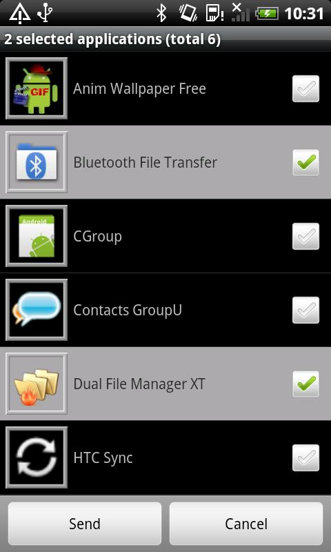 Bluetooth File Transfer – Capture d'écran
