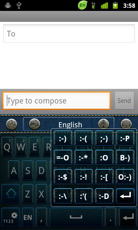 GO Keyboard Cowboy Theme - screenshot