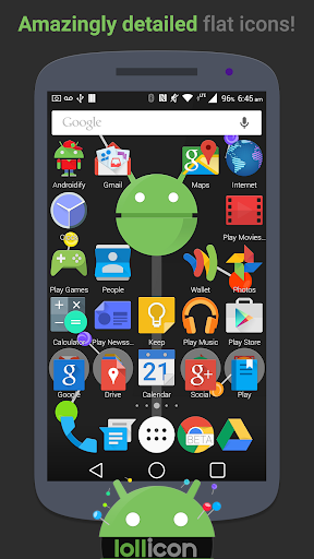Lollicon Launcher Theme v1.7