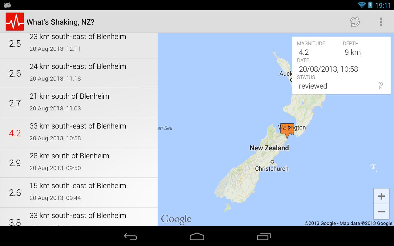 What's Shaking, NZ? - screenshot
