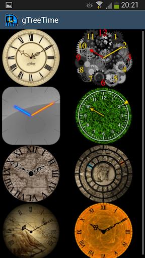 g3time - set 2 - clock widget
