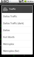 Screenshot of Dallas Fort Worth Traffic
