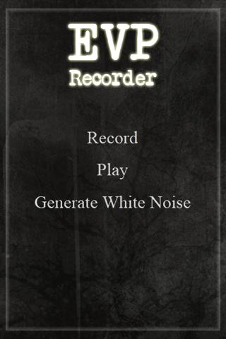 EVP Recorder SPIRIT VOICE APP- screenshot