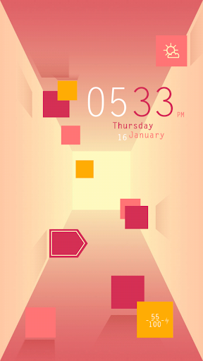 Pink Square Live Locker Theme
