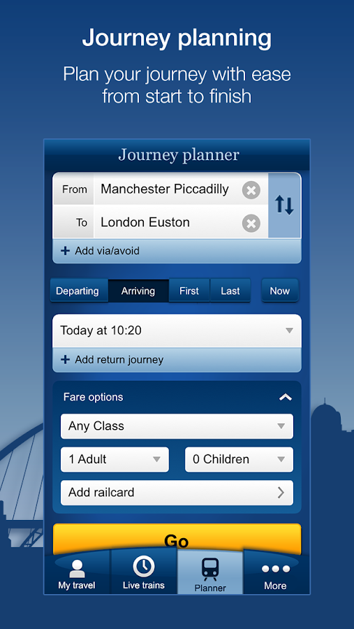 National Rail Enquiries - screenshot