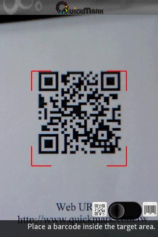 QuickMark Lite QR Code Reader - screenshot