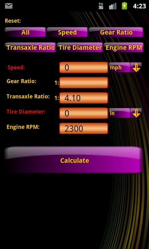 GearCalc - screenshot
